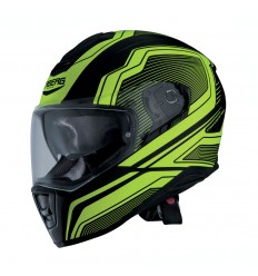 Casco Caberg Drift Flux Negro Mate / Amarillo Fluor