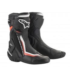 Botas Alpinestars Smx Plus V2 Boots Negro Blanco Rojo Fluor |2221019-1231|