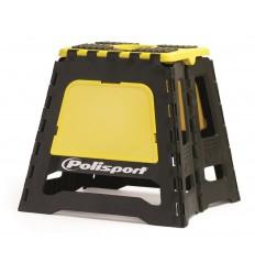 Caballete plegable de plástico Polisport amarillo