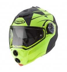 Casco Caberg Droid Patriot Negro Mate / Amarillo Fluor