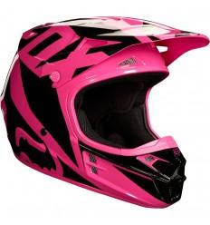 Casco Motocross Fox V1 Race Helmet, Ece Rosa |19532-170|