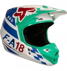 Casco Motocross Fox V1 Sayak Helmet, Ece Verde |19534-004|