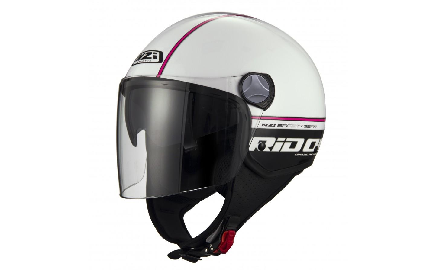 Cascos › Jet Casco Moto Jet NZI Capital 2 Duo blanconegro L