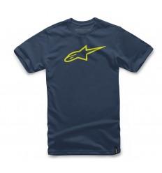 Camiseta Alpinestars Ageless Classic Tee Azul / Amarillo |1032-72030-7055|