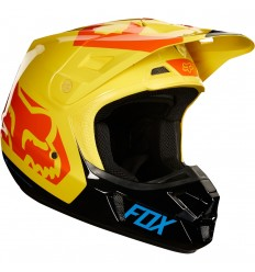 Casco Motocross Fox V2 Preme Helmet, Ece Negro Amarillo |19528-019|