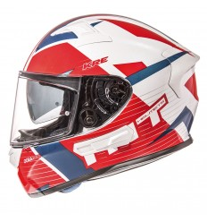Casco MT KRE Rad Blanco Perla/Rojo/Azul Brillo |11043750|