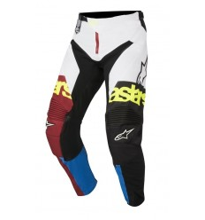 Pantalones Motocross Alpinestars Racer Flagship Pants Rio Rojo Aqua Blanco |3721