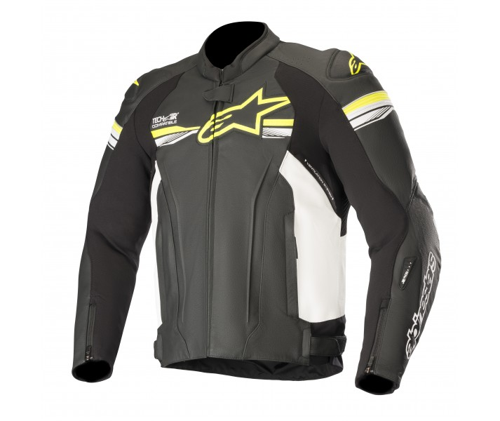 0e5184a1b7a Chaqueta Alpinestars Gp R V2 Leather Tech-Air Compatible Negro Amarillo  Fluor