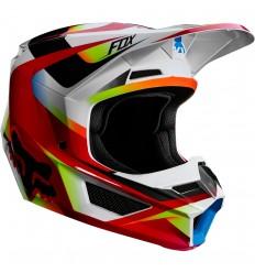 Casco Motocross Fox Yth V1 Motif Helmet Infantil Rojo Blanco |21784-054|