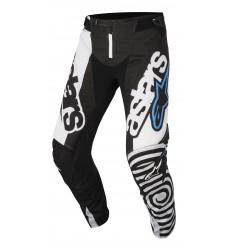 Pantalón Motocross Alpinestars Techstar Venom Pants Negro Blanco Aqua |3720018|