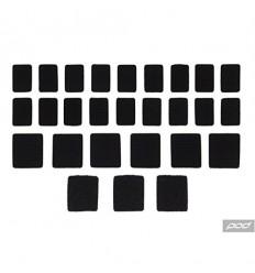 Set De Velcros Pod Para K300 / K4 / K700 / K750 / K8 Negro |KP400-001-OS|
