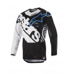 Camiseta Motocross Alpinestars Techstar Venom Jersey Negro Blanco Aqua |3760018-