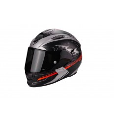 Casco Scorpion EXO-510 Air Cross Negro Mate-Plata-Neon Rojo 51-214-177