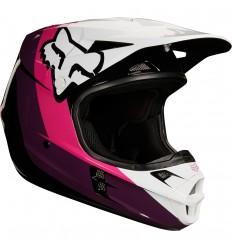 Casco Motocross Fox V1 Halyn Helmet, Ece Negro Rosa |19536-285|
