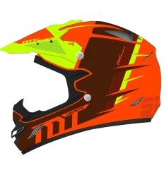 Casco MT Infantil MX-2 Spec Naranja/Amarillo Fluor |10303581|