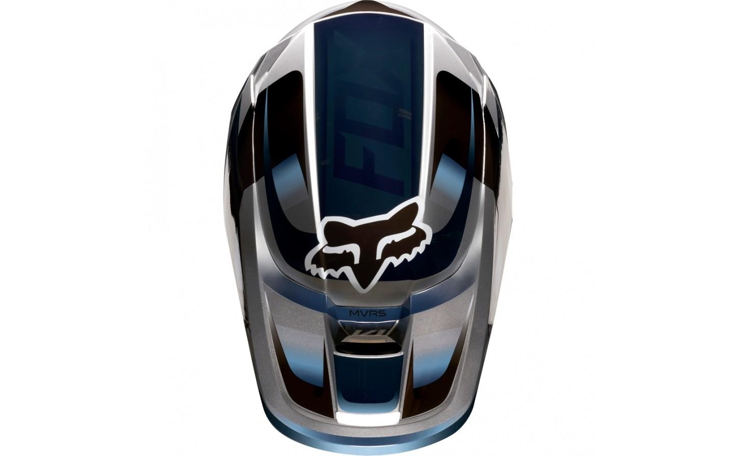 4bf05988ee562 ... Casco Motocross Fox V1 Motif Helmet Azul Gris