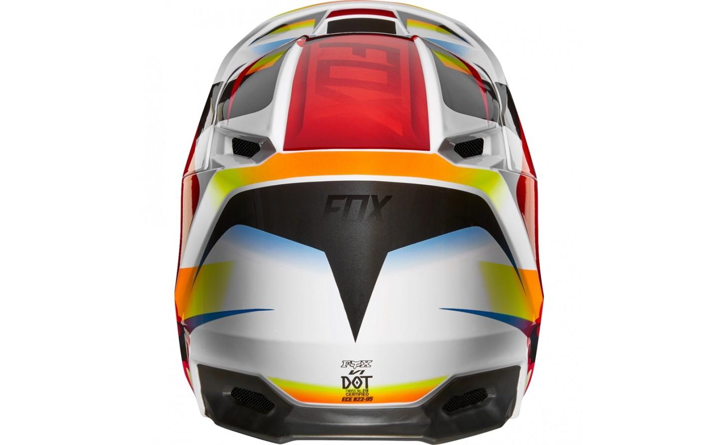 5213d20d43e07 ... Casco Motocross Fox V1 Motif Helmet Rojo Blanco