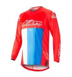 Camiseta Motocross Alpinestars Techstar Venom Jersey Rojo Blanco Azul|3760019-30