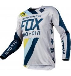 Camiseta Motocross Fox 360 Draftr Jersey Gris Claro |19418-097|