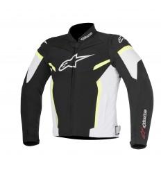 Chaqueta Moto Alpinestars T-Gp Plus R V2 Negro Blanco Amarillo Fluor