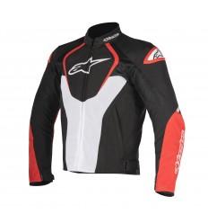 Chaqueta Moto Alpinestars Ventilada T-Jaws V2 Negro Blanco Rojo
