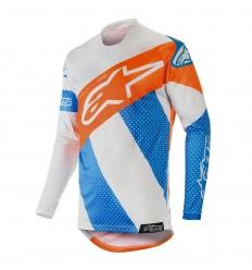 Camiseta Motocross Alpinestars Racer Tech Atomic Jersey Cool Gris Mid Azul Naran
