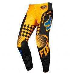 Pantalón Motocross Fox Kids 180 Czar Pant Infantil Negro Amarillo |22147-019|