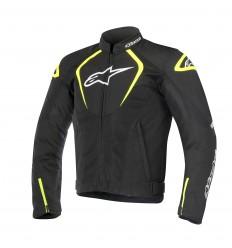 Chaqueta Moto Alpinestars Ventilada T-Jaws V2 Negro Blanco Amarillo Fluor