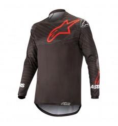 Camiseta Motocross Alpinestars Venture R Jersey Negro Rojo|3763019-13|