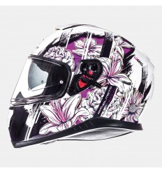 Casco Mt Thunder 3 Sv Wild Garden Blanco Perlado/Purpura Brillo |10553250|