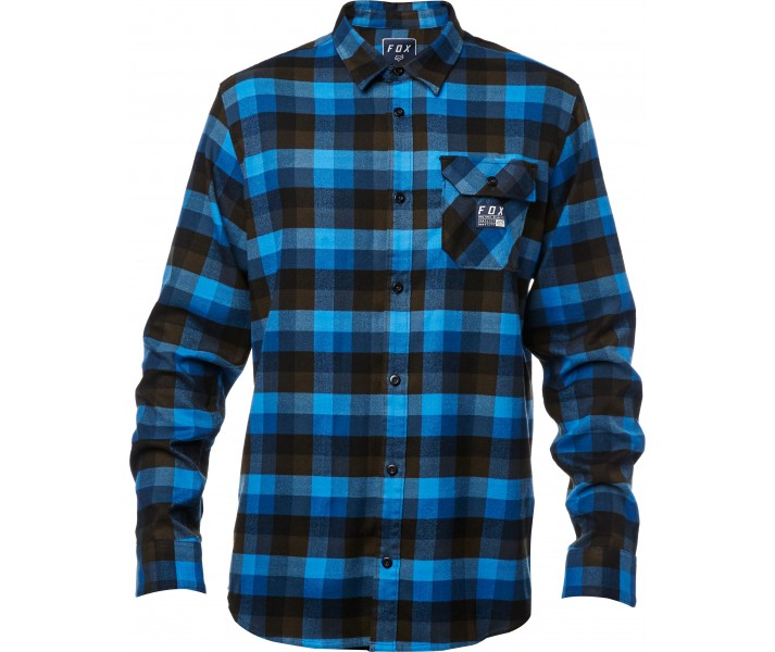 3cf4a56c1 Camisa Manga Larga Fox Rovar Flannel Azul