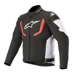 Chaqueta Alpinestars T-Gp R V2 Waterproof Jacket Negro Blanco Rojo 3205619-123 