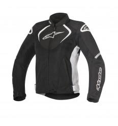 Chaqueta Moto Alpinestars Ventilada Mujer Stella T-Jaws V2 Negro Blanco