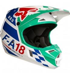 Casco Motocross Infantil Fox Yth V1 Sayak Helmet, Ece Verde |20292-004|