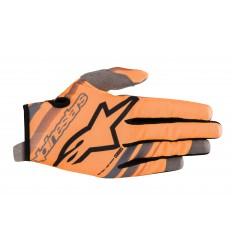 Guantes Infantiles Alpinestars Youth Radar Gloves Naranja Fluor Negro |3541819-4