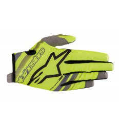 Guantes Infantiles Alpinestars Youth Radar Gloves Amarillo Fluor Negro |3541819-