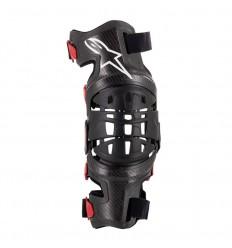 Rodillera Alpinestars Bionic-10 Carbon Knee Brace Derecha Negro Rojo|6500319-13|