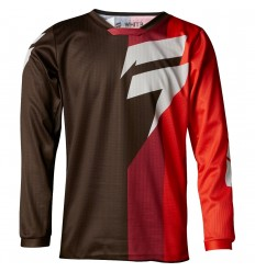 Camiseta Motocross Infantil Shift Youth Whit3 Tarmac Jersey Negro Rojo |19354-01