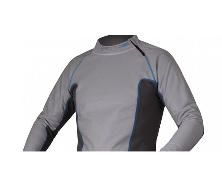 Camiseta Térmica Forcefield Tornado Advance Gris/Azul |FF5021TSH|