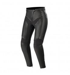 Pantalones Alpinestars Mujer Vika V2 Women'S Leather Pants Negro|3135519-10|