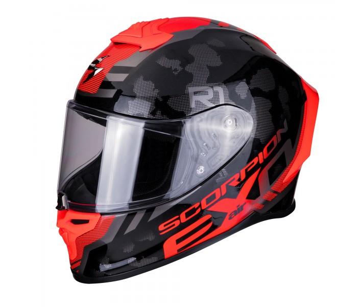 Casco Scorpion EXO R1 Air Ogi Negro Rojo  10-292-24 