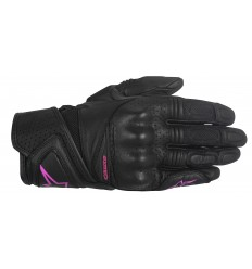 Guantes Alpinestars Mujer Stella Baika Leather Gloves Negro Fucsia |3518916-1039