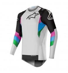 Camiseta Motocross Alpinestars Supertech Jersey Cool Gris Negro|3760719-901|