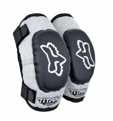 Codera Niño Fox Peewee Titan Elbow Guard Negro / Plata Fx16