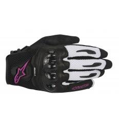 Guantes Alpinestars Mujer Stella Smx-1 Air Gloves Negro Blanco Fucsia |3590516-1