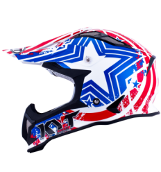 Casco Motocross KYT Strike Eagle Patriot Azul/Rojo |10100824|