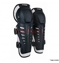 Rodillera Fox Titan Race Knee/Shin Grd, Ce Negro Fx16