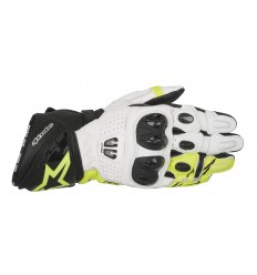 Guantes Alpinestars Gp Pro R2 Gloves Negro Blanco Amarillo Fluor |3556717-125|