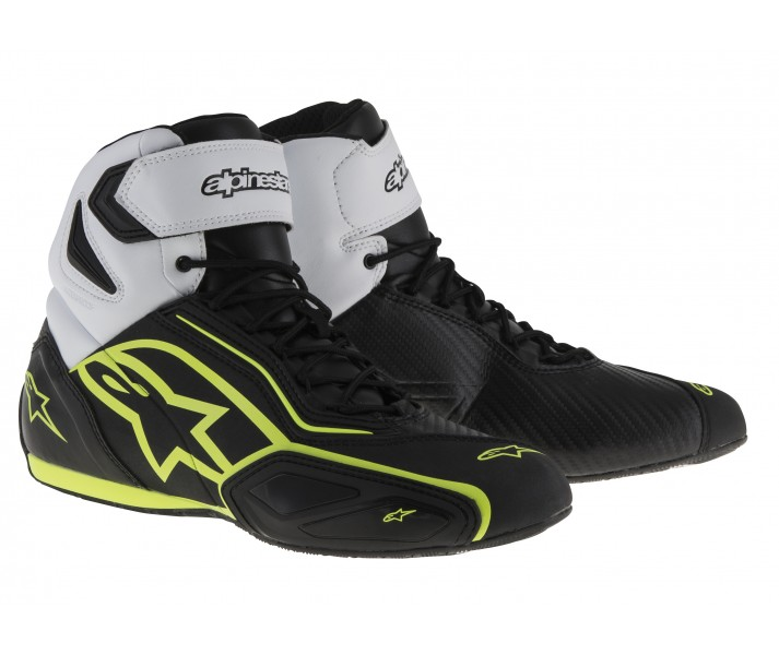 Zapatillas Alpinestars Faster-2 Waterproof Shoes Negro Blanco Amarillo Fluor  25