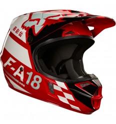 Casco Motocross Infantil Fox Yth V1 Sayak Helmet, Ece Rojo |20292-003|
